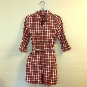 Steven Alan for Barneys NY - Red Plaid Tunic Dress